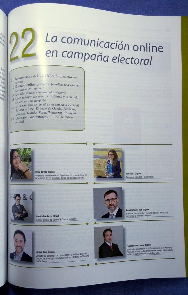 comunicación online campaña electoral libro consultoría política